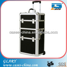 Aluminum make up trolley case