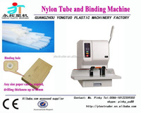 Office semi-automatic nylon tube binding machine/punching machine