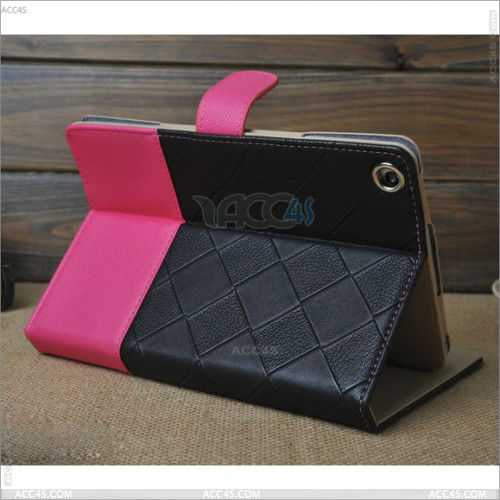 For Apple iPad Mini Striking Mix-Color PU Leather Case Cover With Built-In Stand P-iPDMINICASE111
