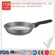 China supplier large saute aluminum non stick marble coating frying pan