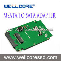 "Wellcore Mini Pci-e Sata to Microsata Msata to 1.8 "" Micro Sata Adapter Card Converter Cards"