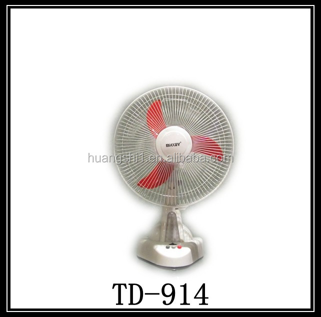 14 inch 12v rechargeable battery operated table fans made in china