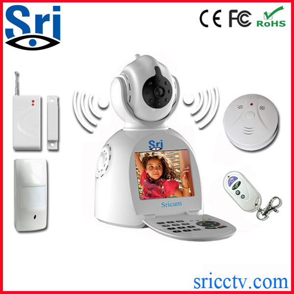 Sricam SP003 New And Hot Wireless Home Security Video Record IP P2P Wifi Fire Alarm Hidden Camera