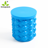 colorful Space saving foldable silicone rubber ice bucket