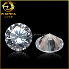 round brilliant cut shining loose zirconia stone