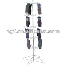 5 Tier Metal Rotating Socks Display Stand with Sign Holder