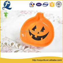 Party decoration solid color pumpkin shape candy dish