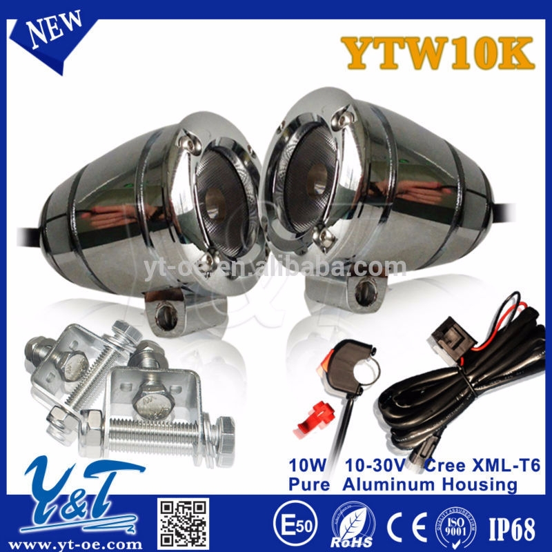 Y&T Most power,Most brightness Chrome 10W led workli ,lamp With Stainless Steel ,autobike led back light red leds