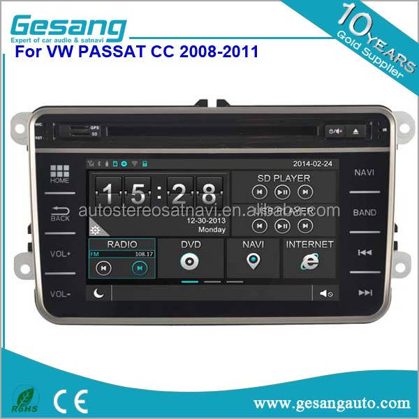 Cheap wholesale price 7 inch full touch screen car dvd player for VW Volkswagen PASSAT CC 2008-2011