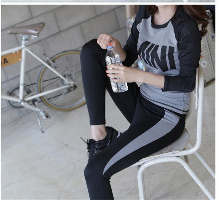 2015 sport exercise suit yoga gym wear women athletic clothing women sportswear fitness set yoga clothing shirt + pant