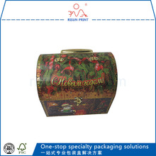 Wholesale custom paper packaging Christmas gift box with foil stamp