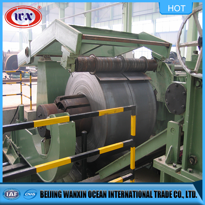 steel coil and plate cut to length shear machine line