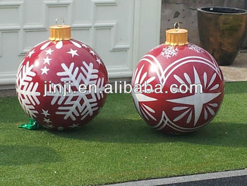 hot large priting christmas ornament ball buy large - Large Plastic Christmas Decorations