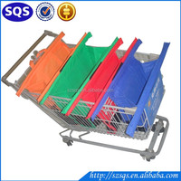 Eco-friendly Super Light Trolley Easy Bags Shopping 4 Set for Supermarket Trolley