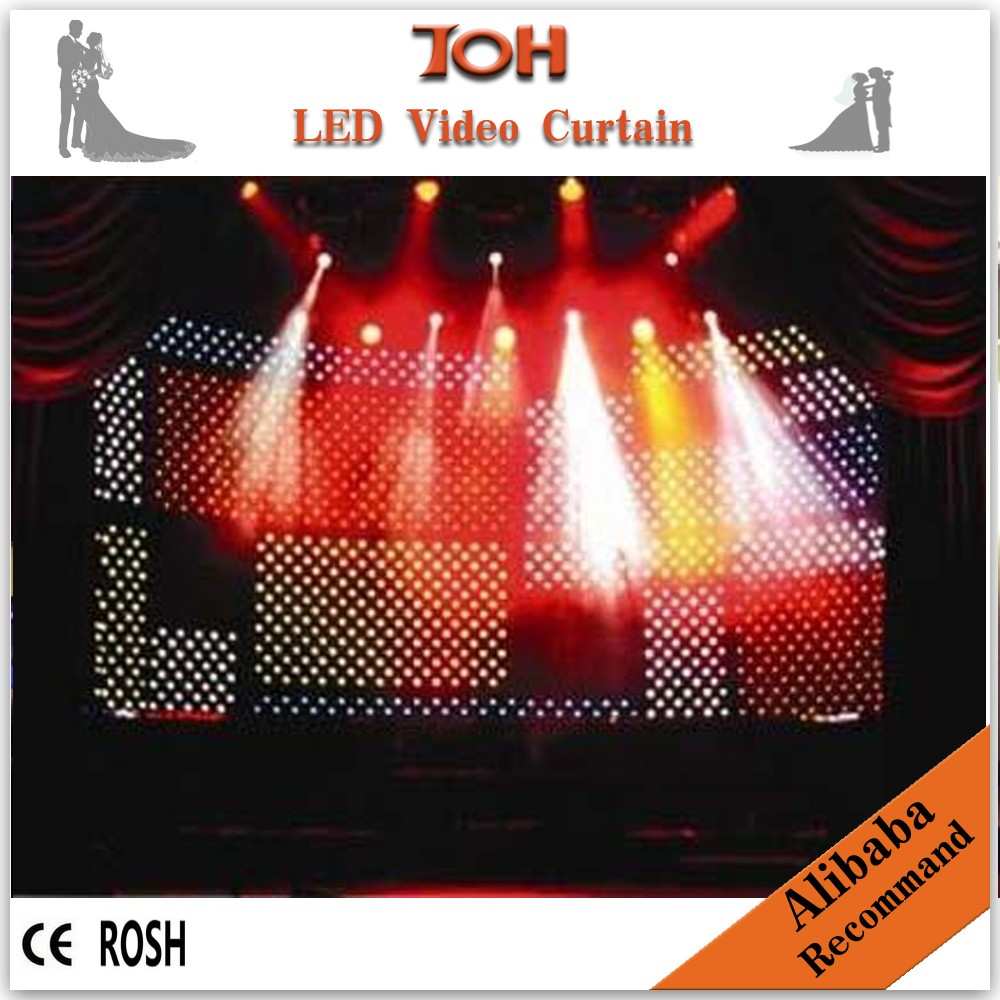 Computer <strong>control</strong> led video curtain rgb light for stage