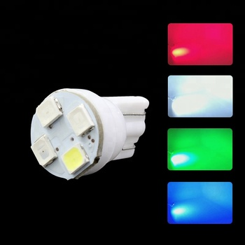 Hot sale LED DC 12V T10 4smd 5050 bulb Ceramics white car auto w5w t10