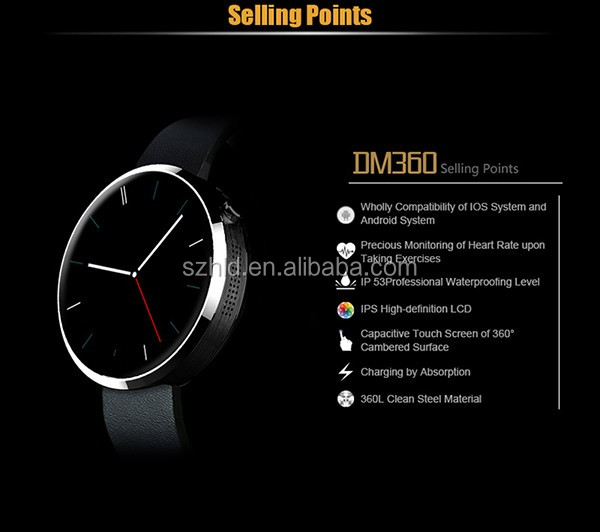 Professional with low price of smart watch phone smart watch DM360 with great price