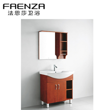 China Factory Waterproof Counter Wash Basin Wooden Cabinet