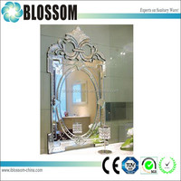 Traditional Venetian bathroom decorative antique wall mirror with hollow-out design