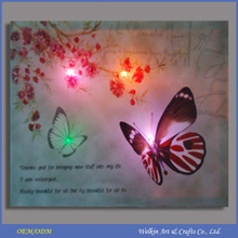 CE approved LED light abstract paintings of butterflies cheap factory price