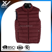 Popular Nylon material Winter Mens waistcoat,low price padded vest .