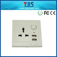 Shenzhen electronics electrical socket usb 220v outlet 2 usb wall socket wall sconce with power outlet