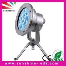 9*3w RGB LED underwater light fountain lights light fixture