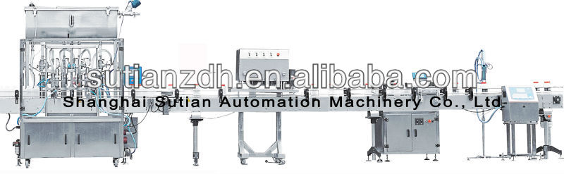 MTFC-1000 automatic gel filling capping labeling coding machine