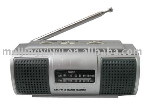 K-990 high quality portable 2 band cheap radio with 2 loud speaker