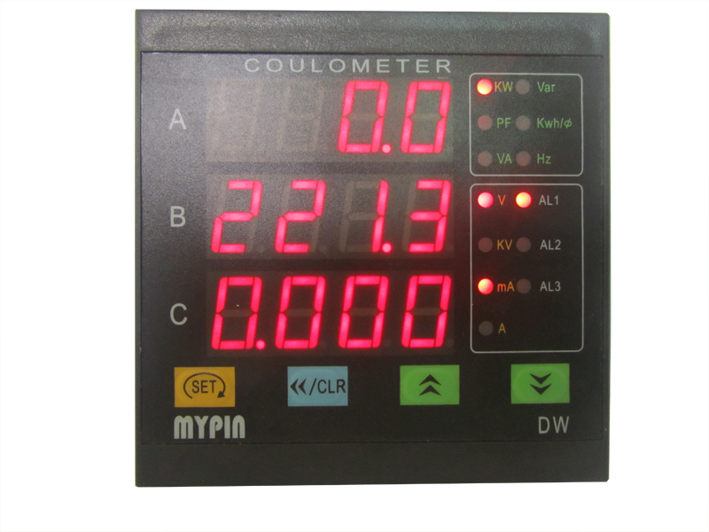 ZW series three phase digital LED display DC wattmeter KWH meter(MYPIN)