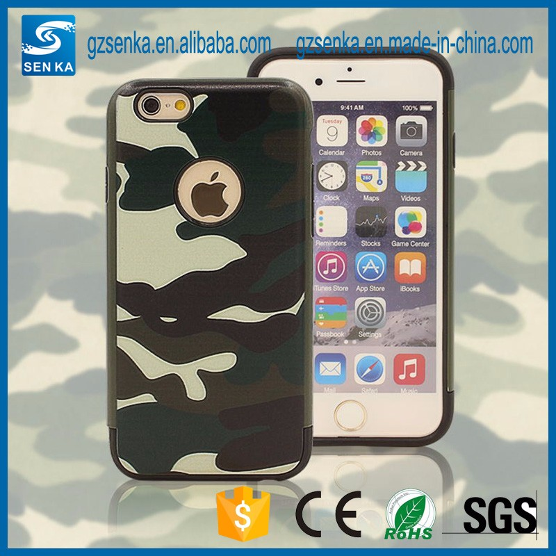 phone accessories camouflage shockproof mobile phone case for iPhone 7/7 Plus