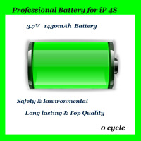 3.7V Li-ion 1420mAh Replacement Battery for iPhone 4S Long Lasting Battery