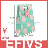 2013 Fancy Polka Dot Cardboard jewellery&gift bags Handmade
