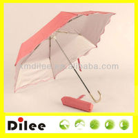 beautiful unique handle cheap nice pink lady straight umbrella