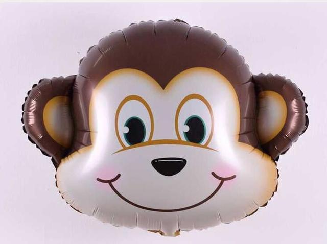 Large 1piece/lot Animal Head foil Balloons Tiger & Lion & monkey & zebra & deer & cow Helium Ballons birthday party decoration