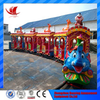 Over 10 years experience theme park equipment plastic thomas toy train wholesale elephant train ride for sale