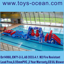 2015 entertainment aqua intdoor giant inflatable amusement water park game/inflatable water sport with EN14960 certificate
