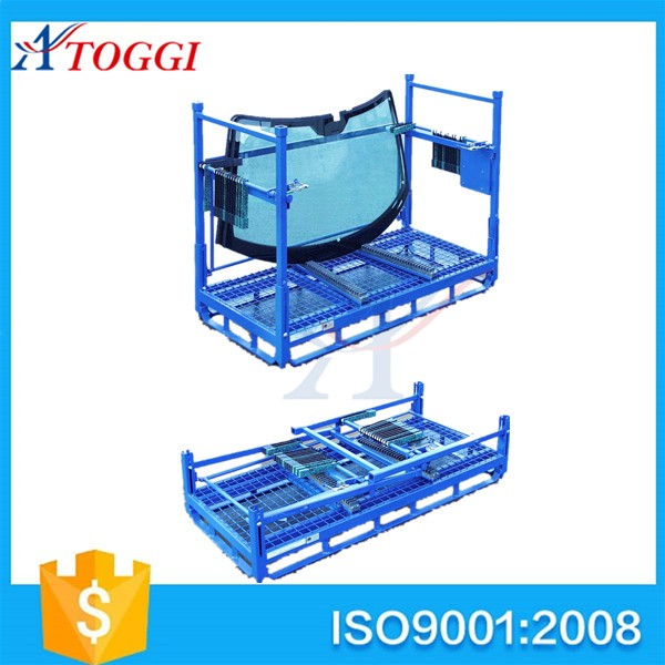 warehouse foldable steel plate stacking rack