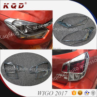 Brand new Hot selling ABS Plasic Chrome head/tail lamp cover for wigo 2017~on wigo accessories