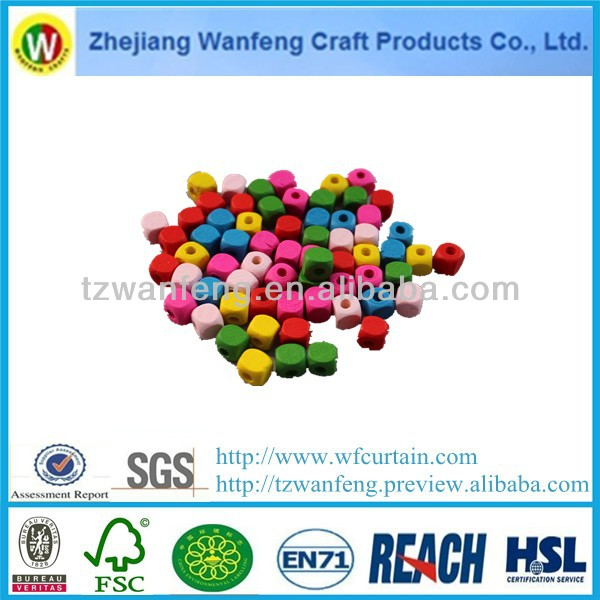 colored wood pearl shaped wooden pearl