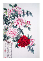 Chinese mordern abstract art painting wall art/ Home decoration Handmade Flower Oil Painting