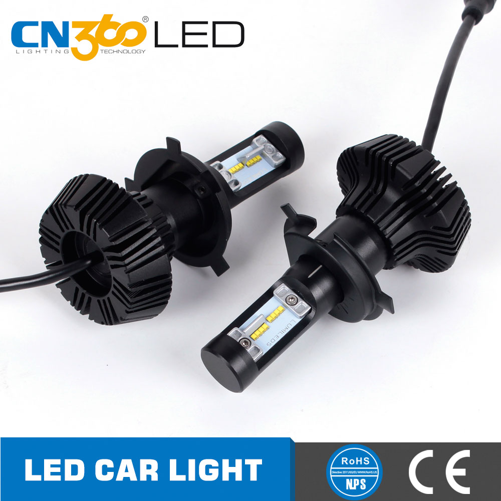Guangzhou manufactures modified 4000lm 25w 6000k 7g no fan type h4 led car headlight kit
