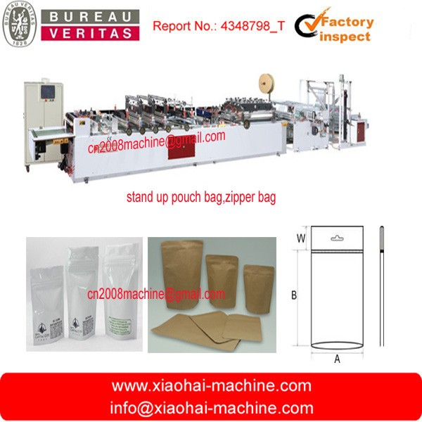 High-speed Three Side Sealing Stand-up Zipper Bag Making Machine