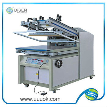 Flat bed screen printing machine price