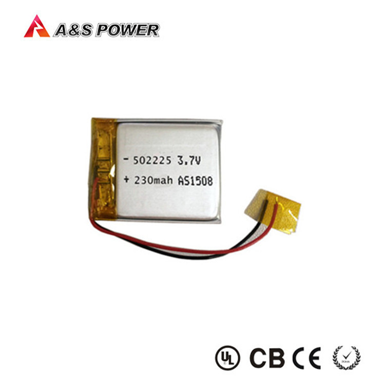 Small lithium polymer battery 3.7v 230mah with high quality for bluetooth headphone