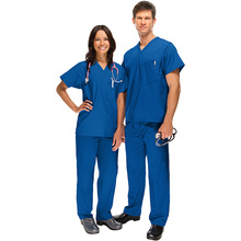 Hospital uniform Medical scrubs Doctor working smocks UNISEX scrub tops wholesale