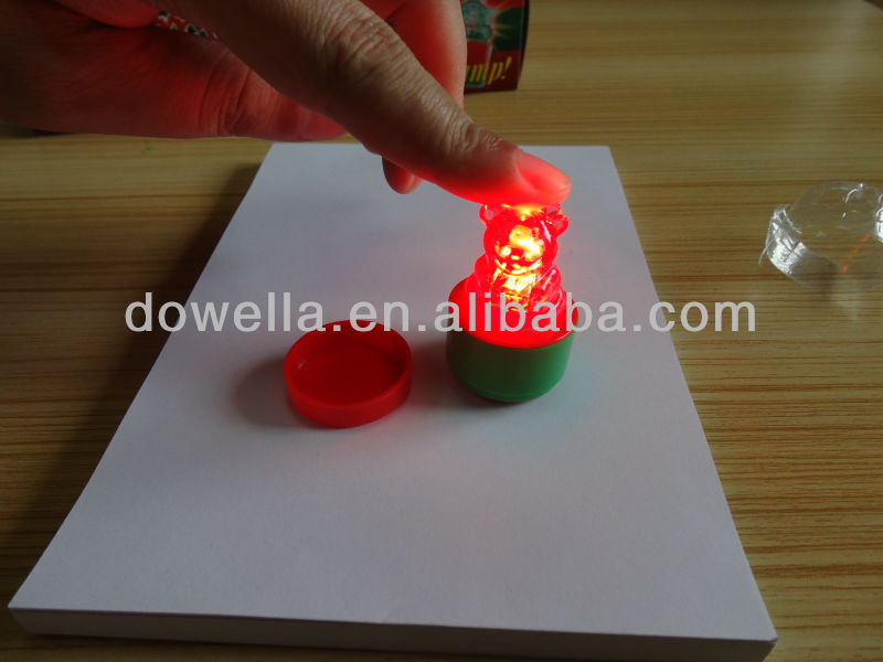 Custom plastic self inking shiny stamp for kids/Flash stamp/lighting stamp