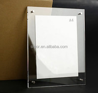 Photo Frame Type and Acrylic Material transparent clear Acrylic picture frame 5x7 with magnets joined