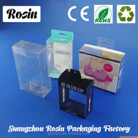 plastic packaging PET clamshell & box with snap/ Clear PVC clamshell for cell phone case packaging