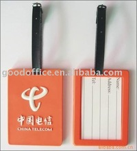 Telecom promotional gift soft pvc luggage tag
